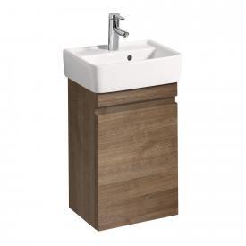 Geberit Renova Plan Meuble sous-lave-mains avec 1 porte Façade et corps du meuble chêne naturel