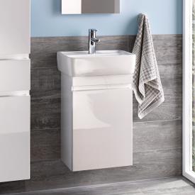 Geberit Renova Plan Meuble sous-lave-mains avec 1 porte Façade et corps du meuble blanc ultra brillant