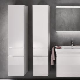 Geberit Renova Plan tall unit W: 39 H: 180 D: 36 cm front white high gloss / corpus white high gloss