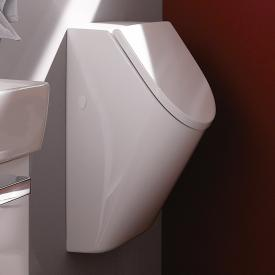 Geberit Renova Plan urinal, rear supply white, with KeraTect, with lid