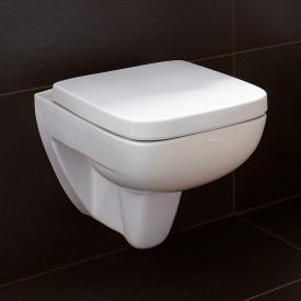 Geberit Renova Plan wall-mounted, washdown rimless toilet white, with KeraTect