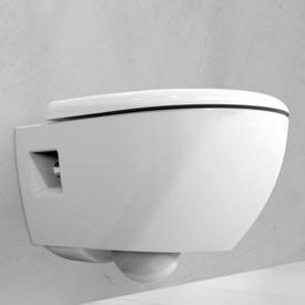 Geberit Renova Premium wall-mounted washdown toilet, rimless white, with KeraTect