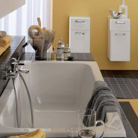 Geberit Renova rectangular bath, waste and overflow centred right white