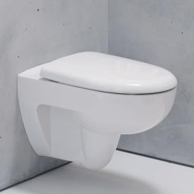 Geberit Renova wall-mounted, washdown rimless toilet white, with KeraTect