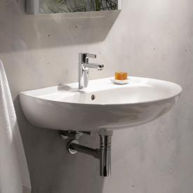 Geberit Renova washbasin white, with KeraTect, with 1 tap hole, with overflow