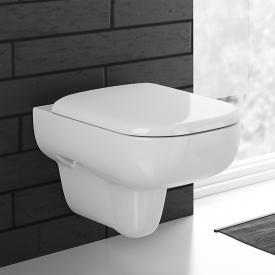 Geberit Smyle wall-mounted, washdown rimless toilet rimless, white, with KeraTect