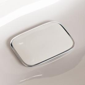Geberit waste cover for myDay washbasins, white/chrome