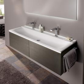 Geberit Xeno² double washbasin white, with 2 tap holes
