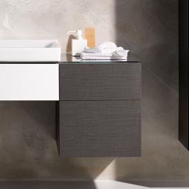 Geberit Xeno² side unit with 1 pull-out compartment and 1 drawer front scultura grey / corpus scultura grey
