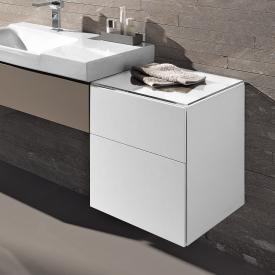 Geberit Xeno² side unit with 1 pull-out compartment and 1 drawer front white high gloss / corpus white high gloss