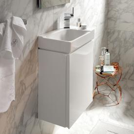 Geberit Xeno² vanity unit for hand washbasin with 1 door front white high gloss / corpus white high gloss