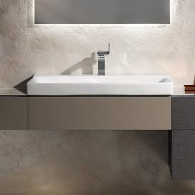 Geberit Xeno² vanity unit with 1 pull-out compartment front white high gloss / corpus white high gloss