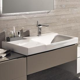 Geberit Xeno² washbasin with shelf white, with KeraTect, with 1 tap hole