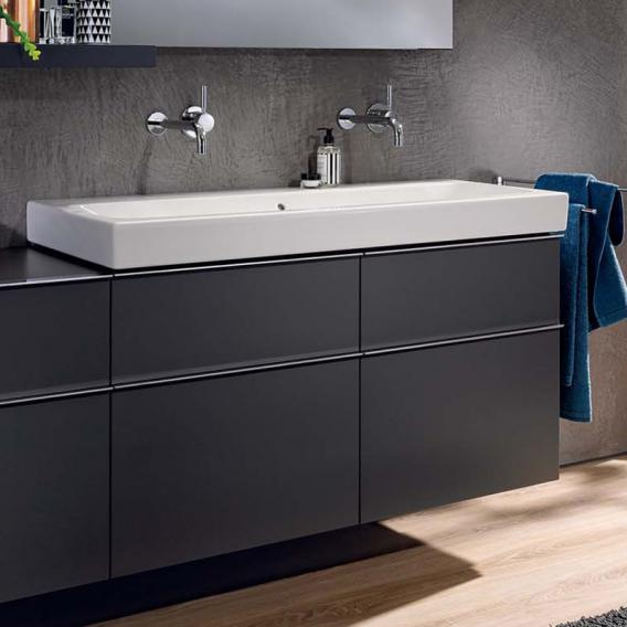 Geberit iCon vanity unit for double washbasin front alpine high gloss / corpus alpine high gloss