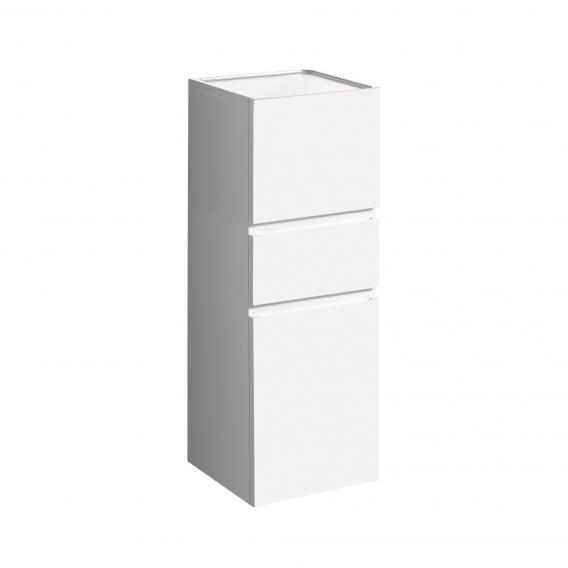 Geberit Renova Plan medium unit with 2 doors and 1 pull-out compartment front white high gloss / corpus white high gloss