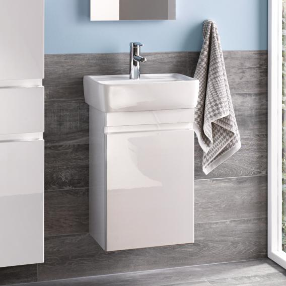 Geberit Renova Plan vanity unit front white high gloss / corpus white high gloss