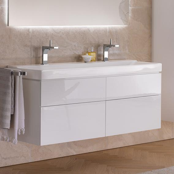 Geberit Xeno² double washbasin white, with KeraTect