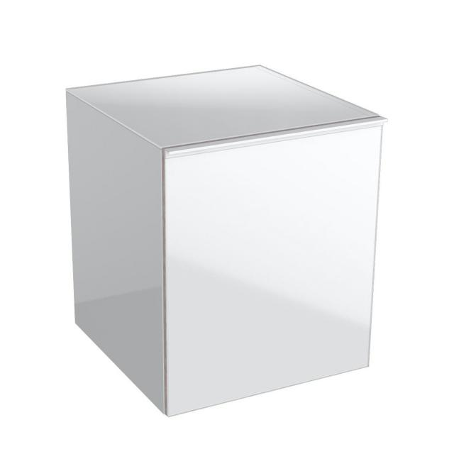 Geberit Acanto side unit with 1 pull-out compartment front white / corpus white high gloss
