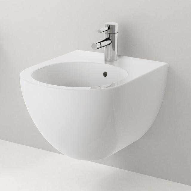Geberit Acanto wall-mounted bidet white, with KeraTect