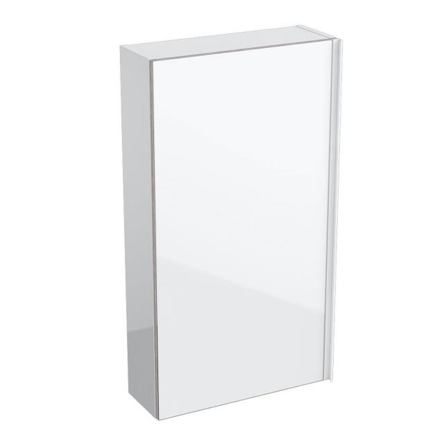Geberit Acanto wall unit, flat with 1 door front white / corpus white high gloss