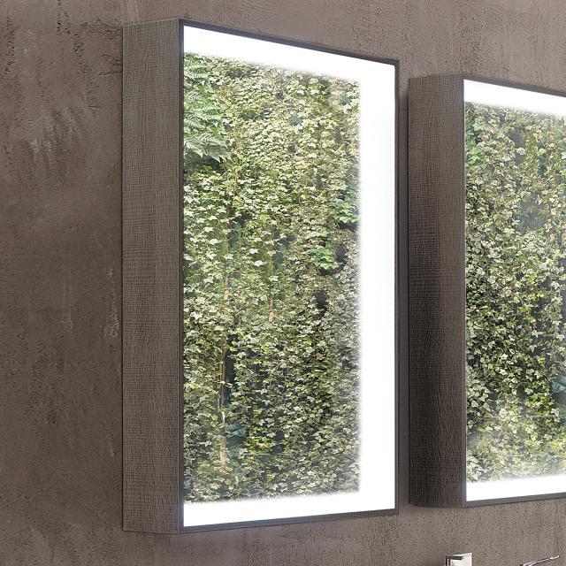 Geberit Citterio illuminated mirror element grey brown
