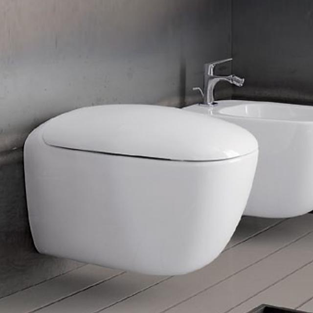 Geberit Citterio wall-mounted washdown toilet, rimless