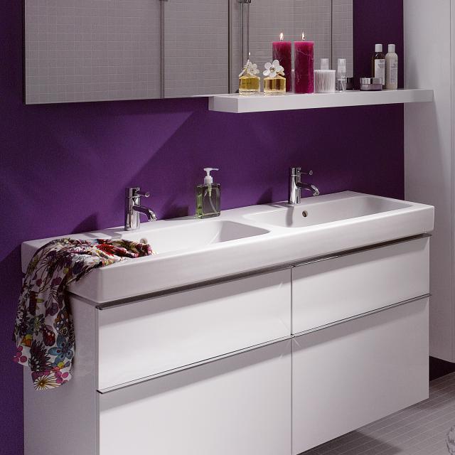 Geberit iCon double washbasin white, with KeraTect