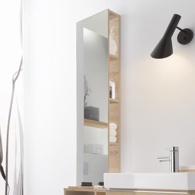 Geberit iCon rack with mirror front natural oak / corpus natural oak