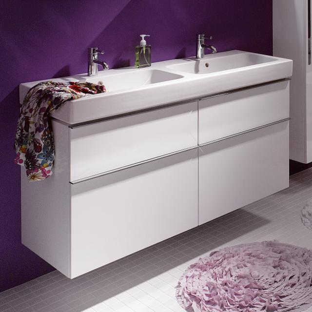 Geberit iCon vanity unit for double washbasin front alpine high gloss / corpus alpine high gloss