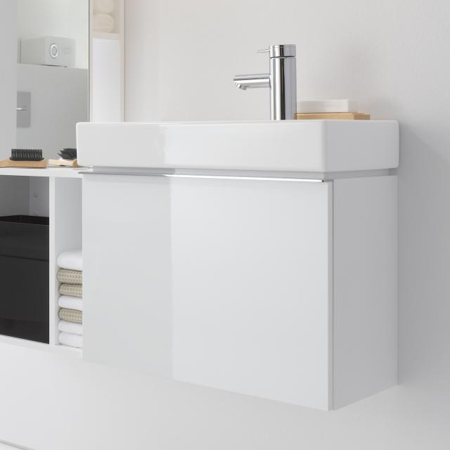 Geberit iCon vanity unit for hand washbasin with 1 pull-out compartment front alpine high gloss / corpus alpine high gloss