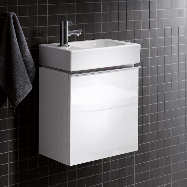 Geberit iCon vanity unit for hand washbasin with 1 door front alpine high gloss / corpus alpine high gloss