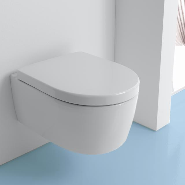 Geberit iCon wall-mounted washdown toilet rimless, white, with KeraTect