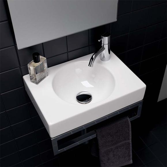 Geberit Preciosa II hand washbasin white, with KeraTect