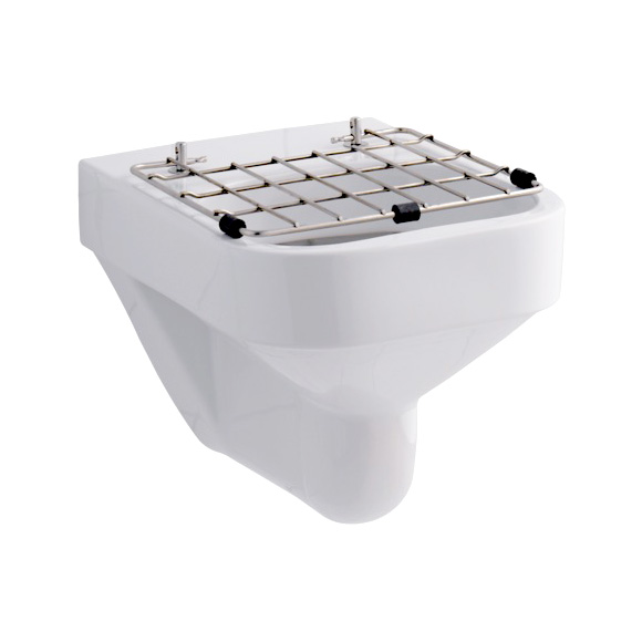 Geberit Espital utility sink with foldable. stainless steel grate