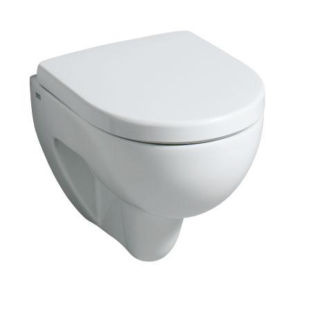 Geberit Renova Compact wall-mounted washdown toilet, short version white, with KeraTect