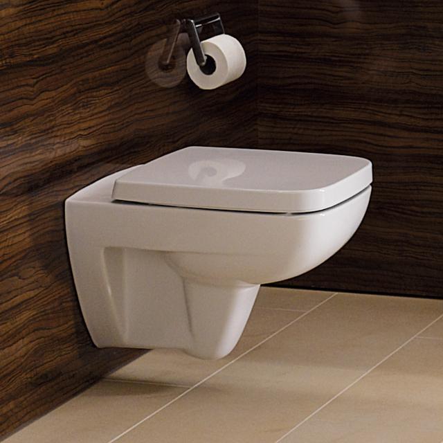 Geberit Renova Compact wall-mounted washdown toilet, short version white