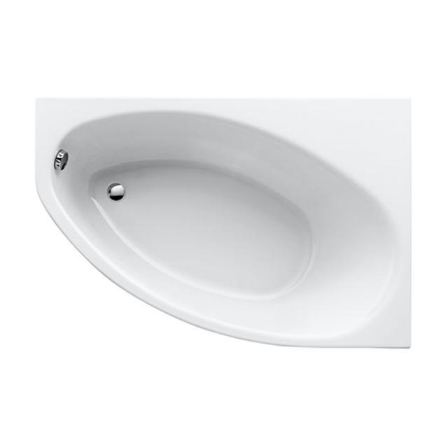 Geberit Renova asymmetrical, corner bath, built-in white