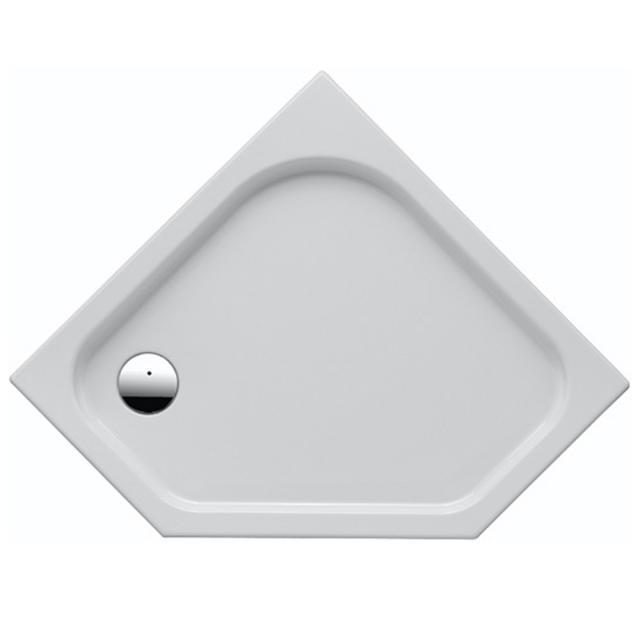 Geberit Renova pentagonal shower tray white
