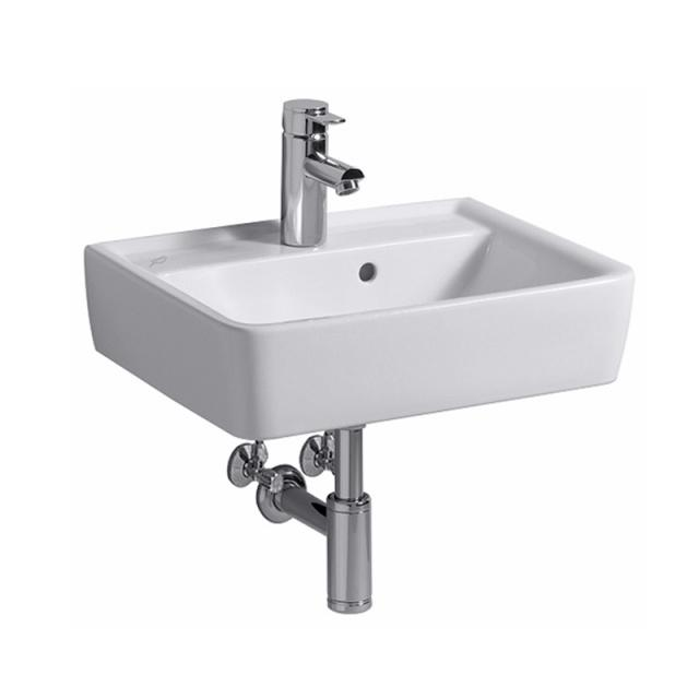 Geberit Renova Plan hand washbasin white, with 1 tap hole, with overflow