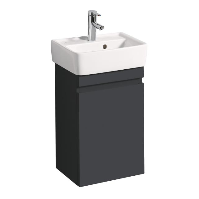 Geberit Renova Plan vanity unit for hand washbasin with 1 door front matt lava / corpus matt lava