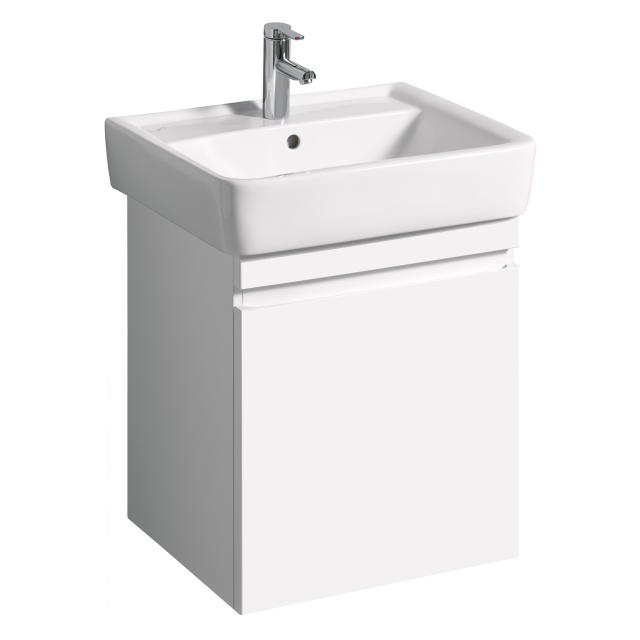 Geberit Renova Plan vanity unit with 1 pull-out compartment front white high gloss / corpus white high gloss