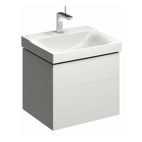 Geberit Xeno² vanity unit with 2 pull-out compartments front white high gloss / corpus white high gloss