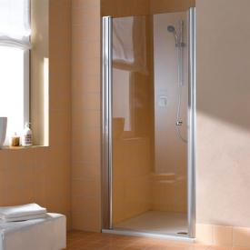 Kermi Atea hinged door, 1 wing TSG transparent with KermiClean / silver high gloss
