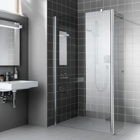 Kermi Atea Walk-In WALL with movable wing TSG transparent with KermiClean / silver high shine