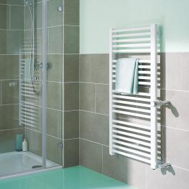 Kermi Basic-D bathroom radiator for hot water or mixed operation white, 586 Watt, connection right