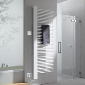 Kermi Credo-Half-E radiator, electric operation only white, W: 46 H: 102.9 cm, 400 Watt, electric set WKS left