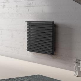 Kermi Decor-Arte Pure horizontal radiator for hot water operation metallic anthracite, 404 Watt, left side