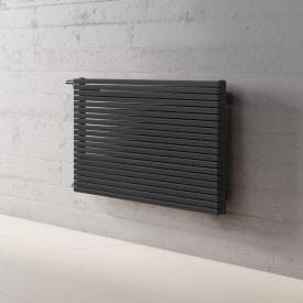 Kermi Decor-Arte Pure horizontal radiator for hot water operation metallic anthracite, 538 Watt, left side