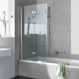 Kermi Diga folding bath screen 2-wing TSG clear with KermiClean / silver high gloss