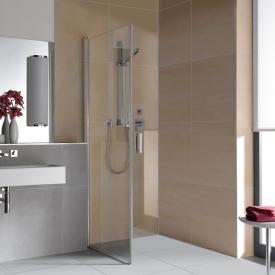 Kermi Diga movable side panel TSG clear / silver high gloss